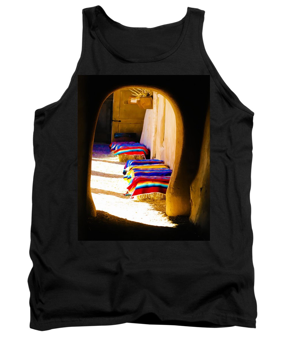 Tank Top featuring the photograph At The Hacienda by Terry Fiala