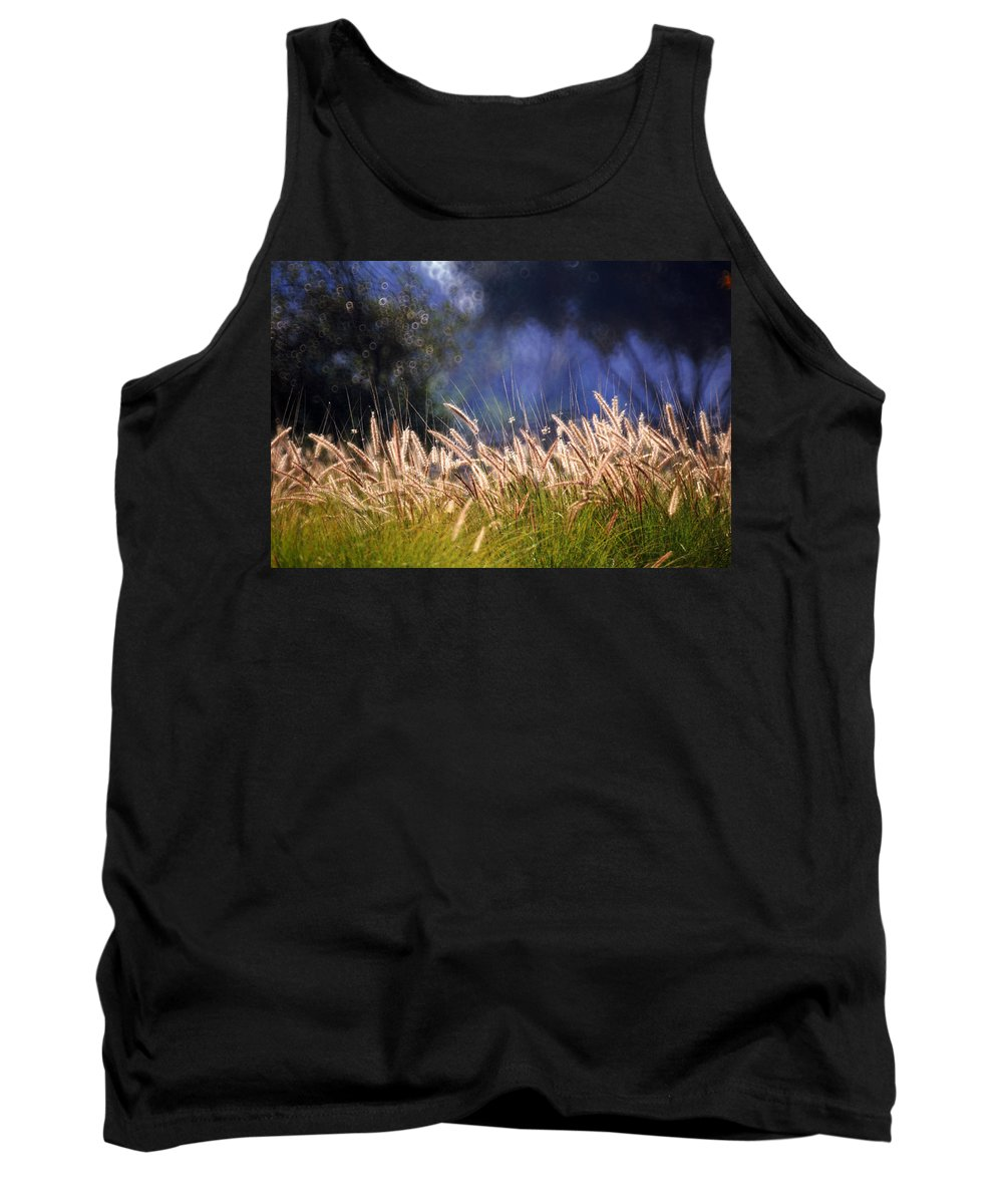 Nature Tank Top featuring the photograph At The Rock Garden Tel Aviv by Dubi Roman