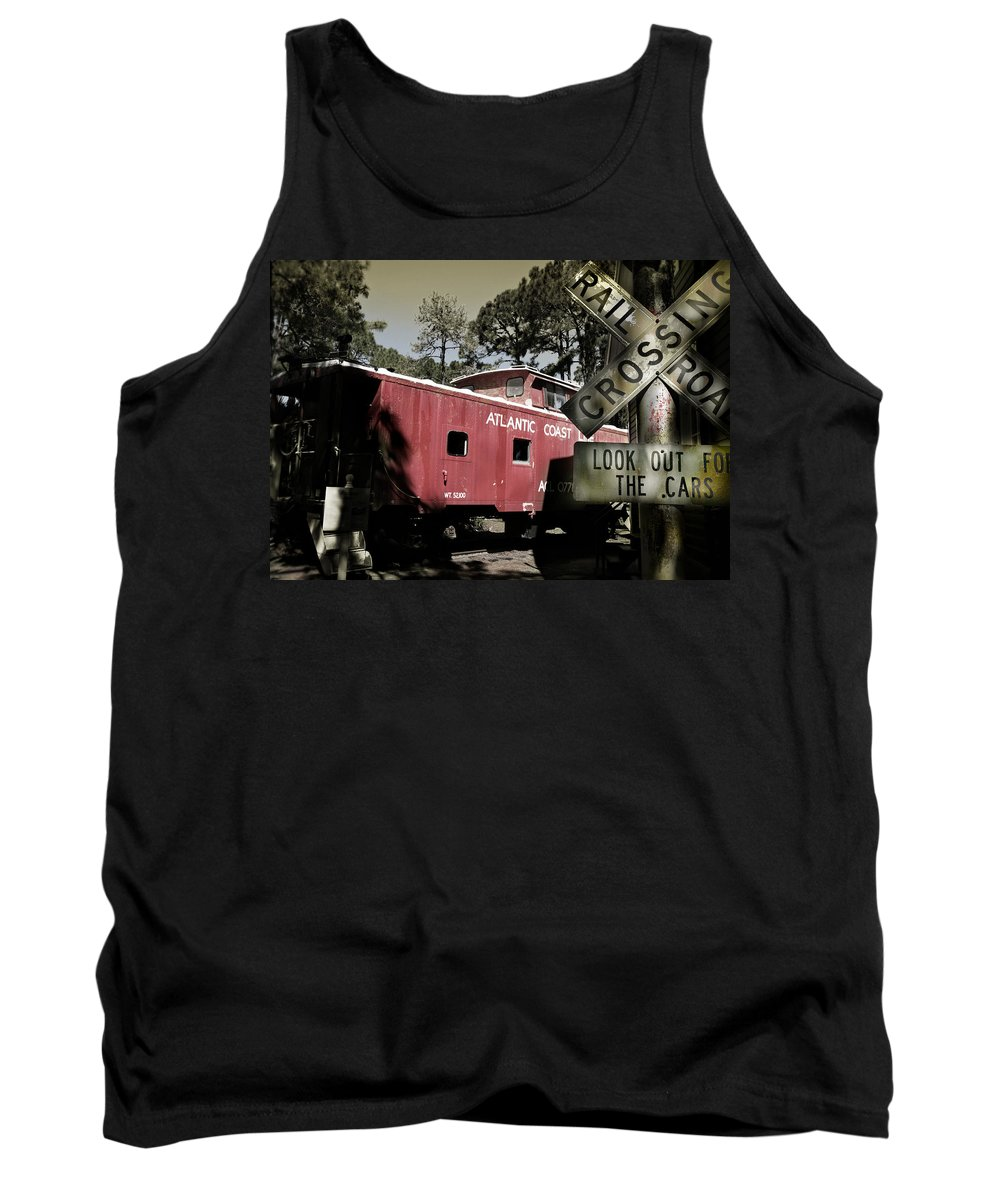 Atlantic Tank Top featuring the photograph Atlantic Coast Line Railroad Carriage by Mal Bray