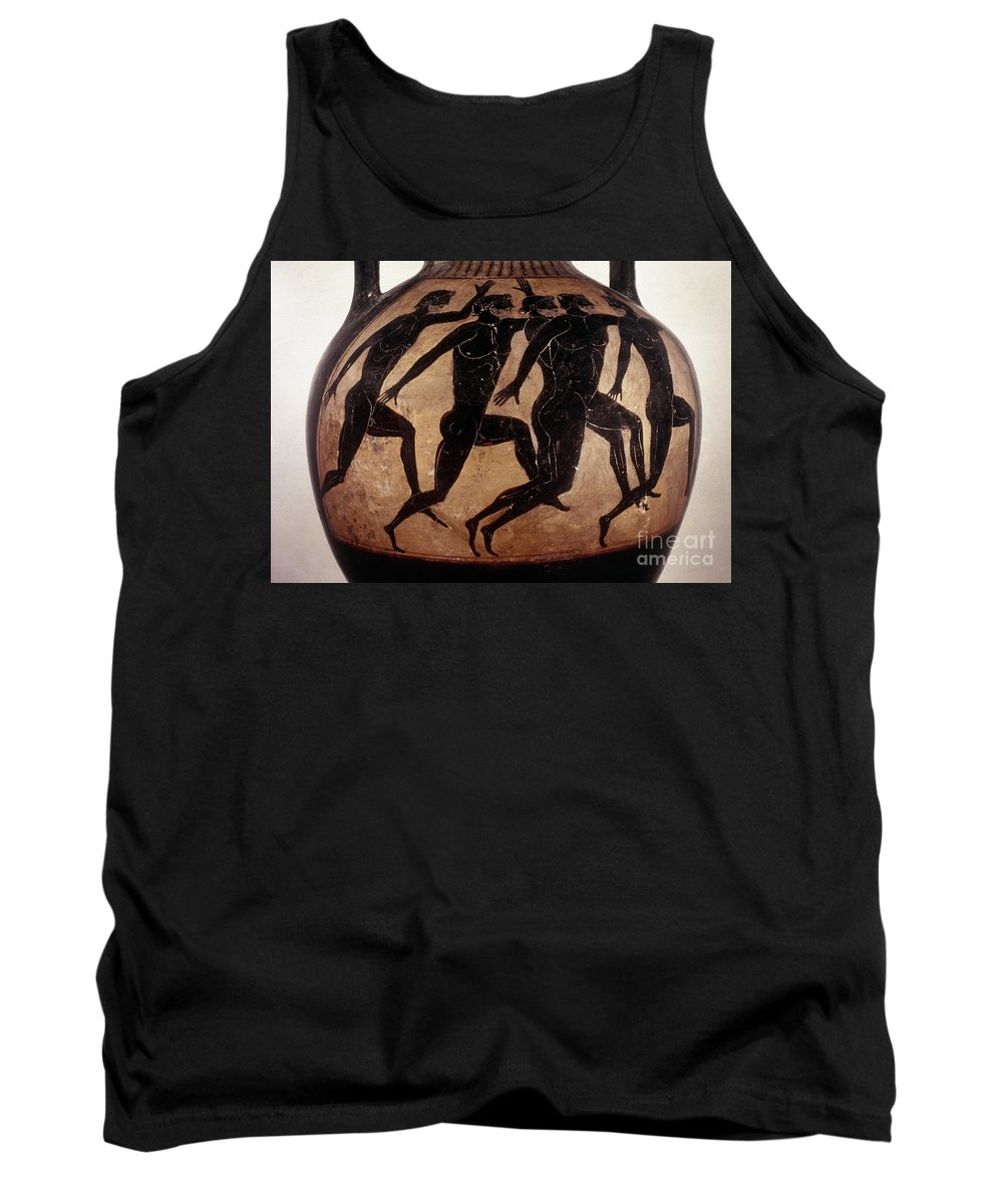 6th Century B.c Tank Top featuring the photograph Attic Black-figured Vase by Granger