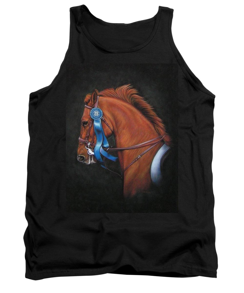 Horse Tank Top featuring the painting Attitude by Yvonne Hazelton