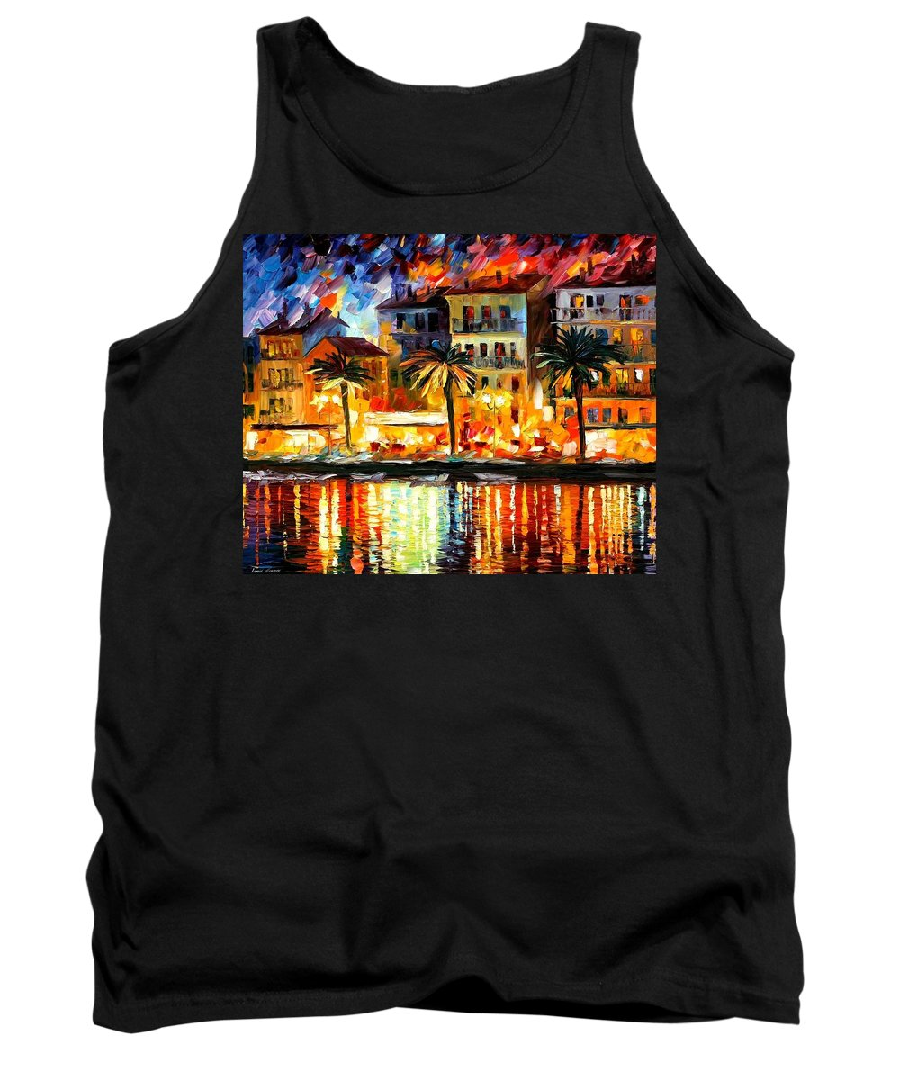 Afremov Tank Top featuring the painting Attractive Corsica by Leonid Afremov