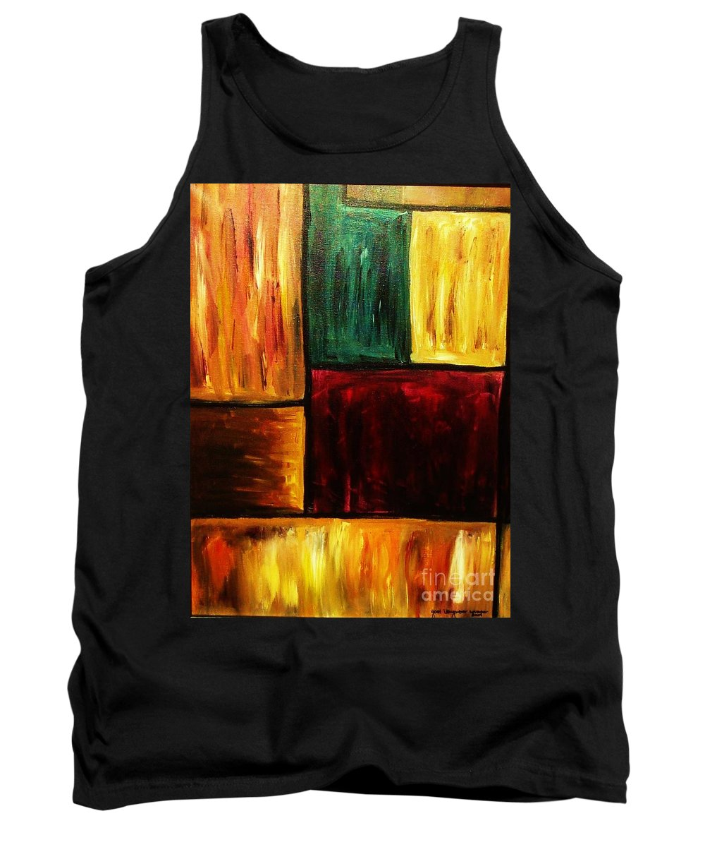 Abstract Tank Top featuring the painting Attractive by Yael VanGruber