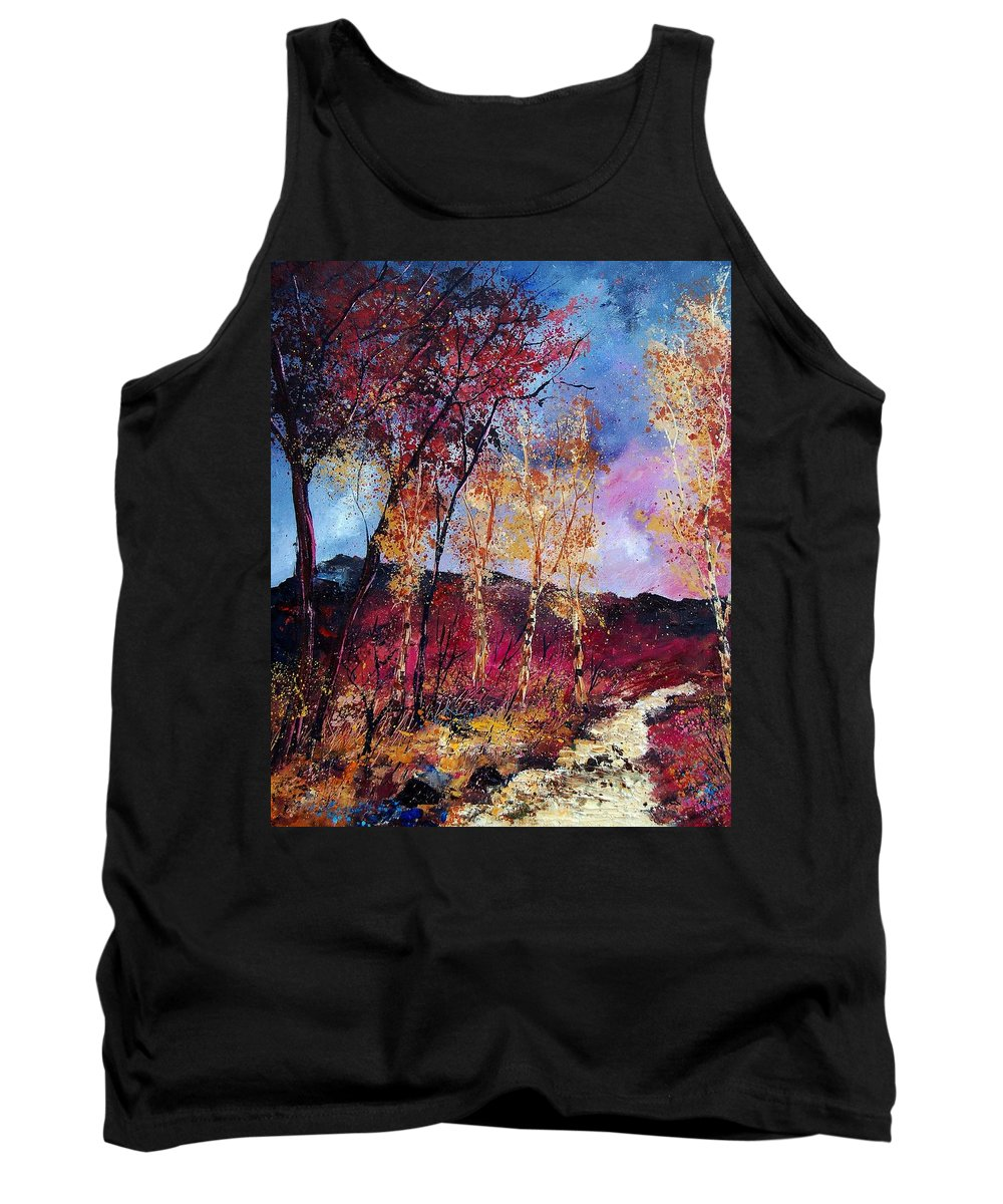 Landscape Tank Top featuring the painting Autumn 760808 by Pol Ledent
