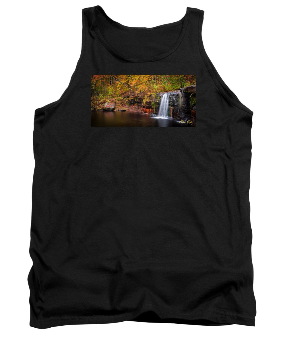 Autumn Tank Top featuring the photograph Autumn At Wolf Creek Falls by Rikk Flohr