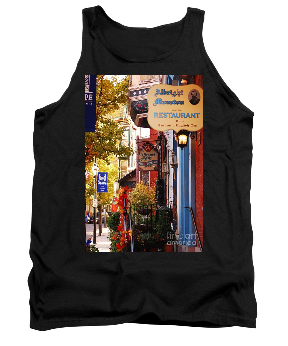Landscape Tank Top featuring the photograph Autumn In Jim Thorpe by Lori Tambakis