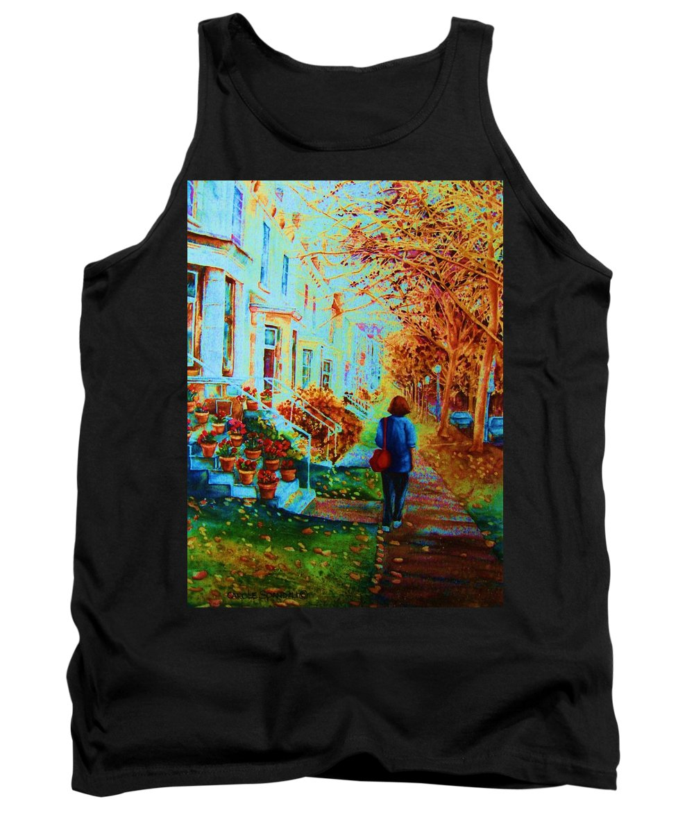 Montreal Tank Top featuring the painting Autumn In Westmount by Carole Spandau