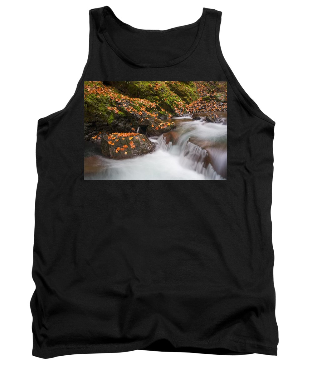 Autumn Tank Top featuring the photograph Autumn Litter by Mike Dawson
