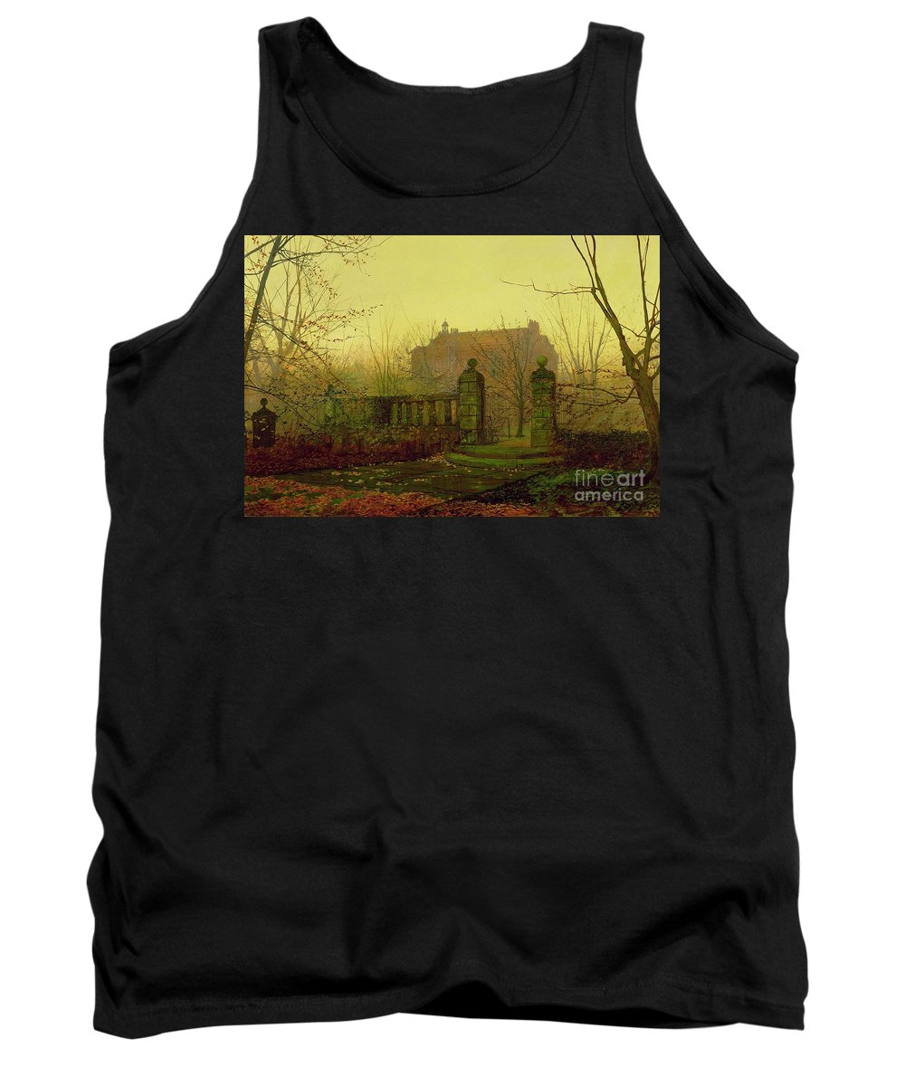 Autumn Tank Top featuring the painting Autumn Morning by John Atkinson Grimshaw