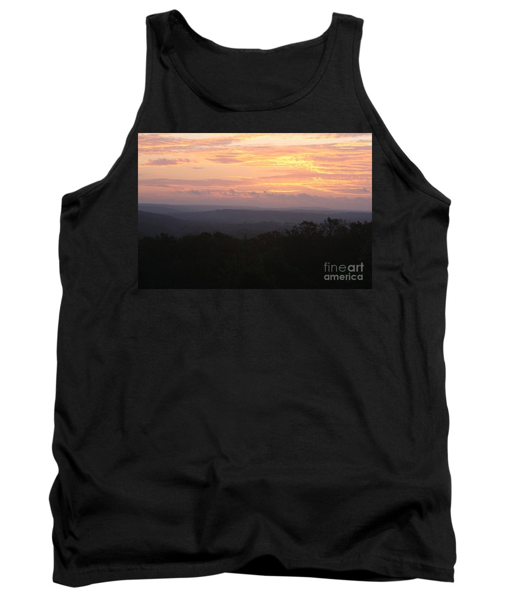 Sunrise Tank Top featuring the photograph Autumn Sunrise Over The Ozarks by Nadine Rippelmeyer