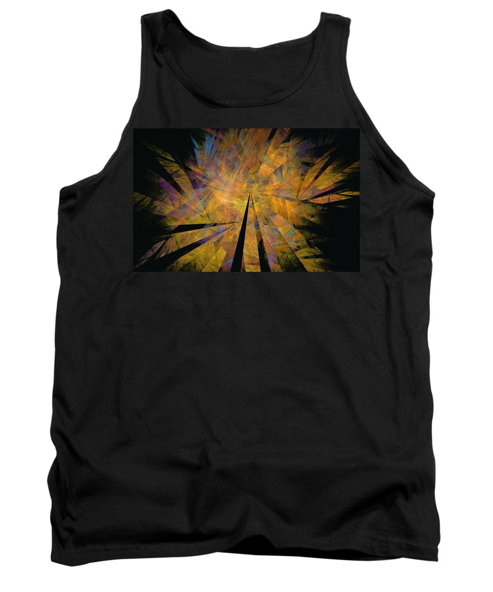 Abstract Expressionism Tank Top featuring the digital art Autumnal by David Lane