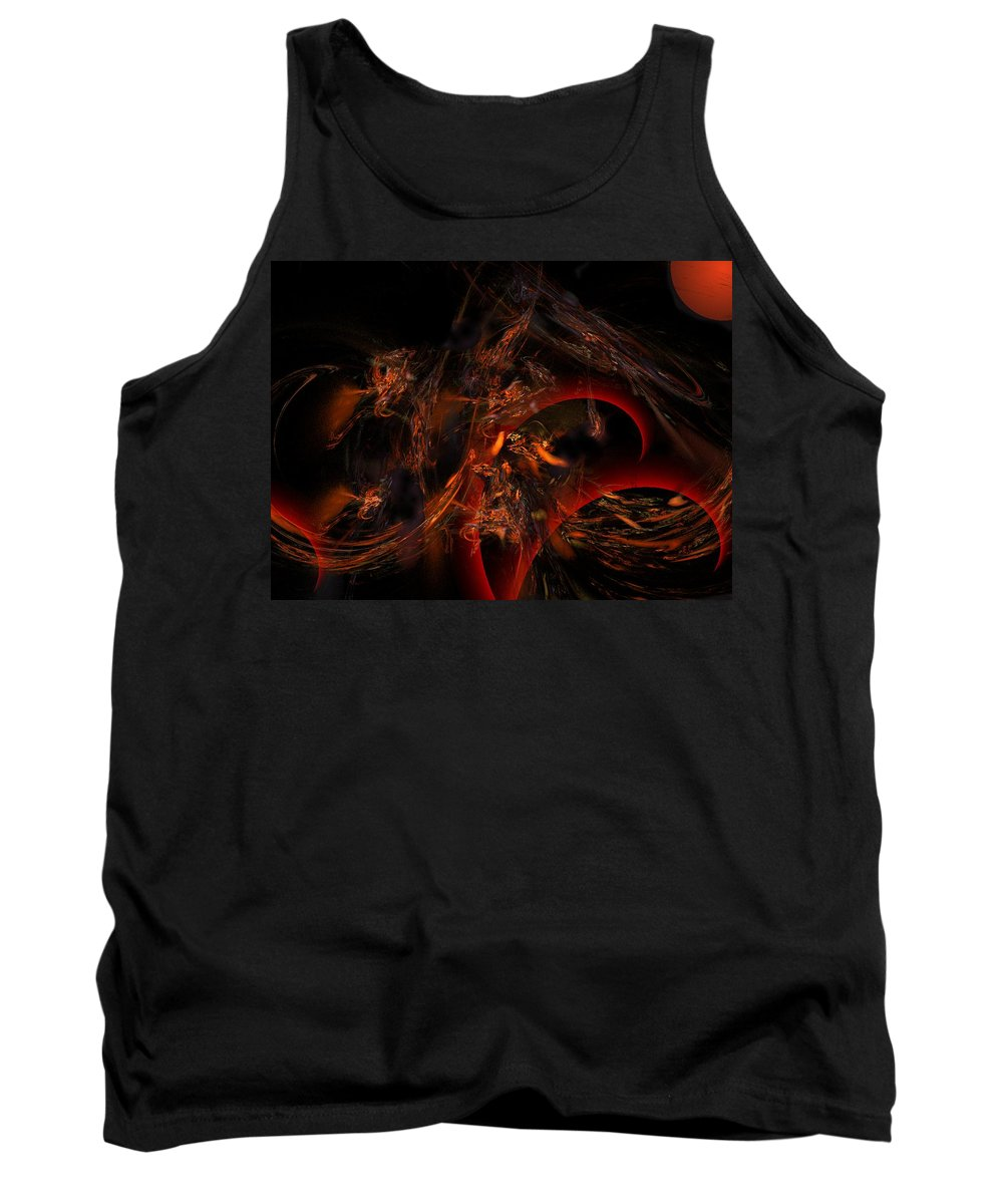 Abstract Digital Painting Tank Top featuring the digital art Autums Winds 2 by David Lane