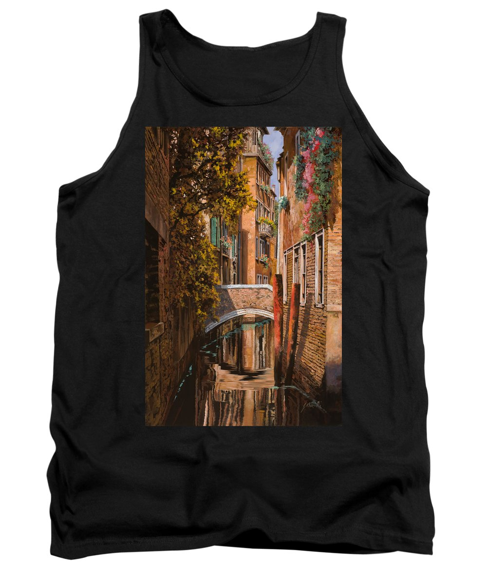 Venice Tank Top featuring the painting autunno a Venezia by Guido Borelli