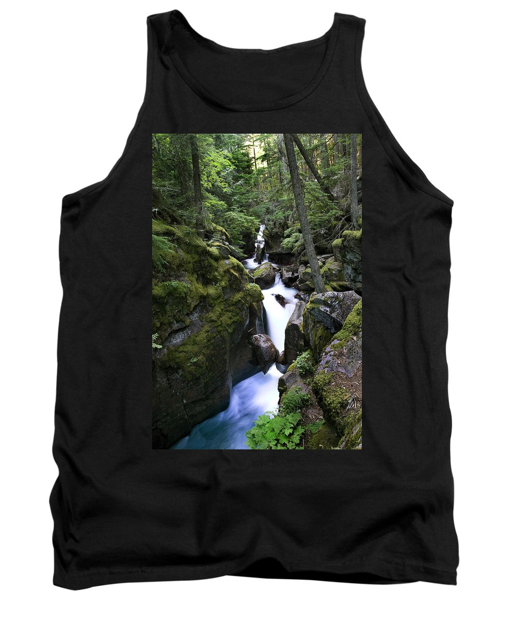 Glacier National Park Tank Top featuring the photograph Avalanche Gorge Glacier National Park by Rich Franco