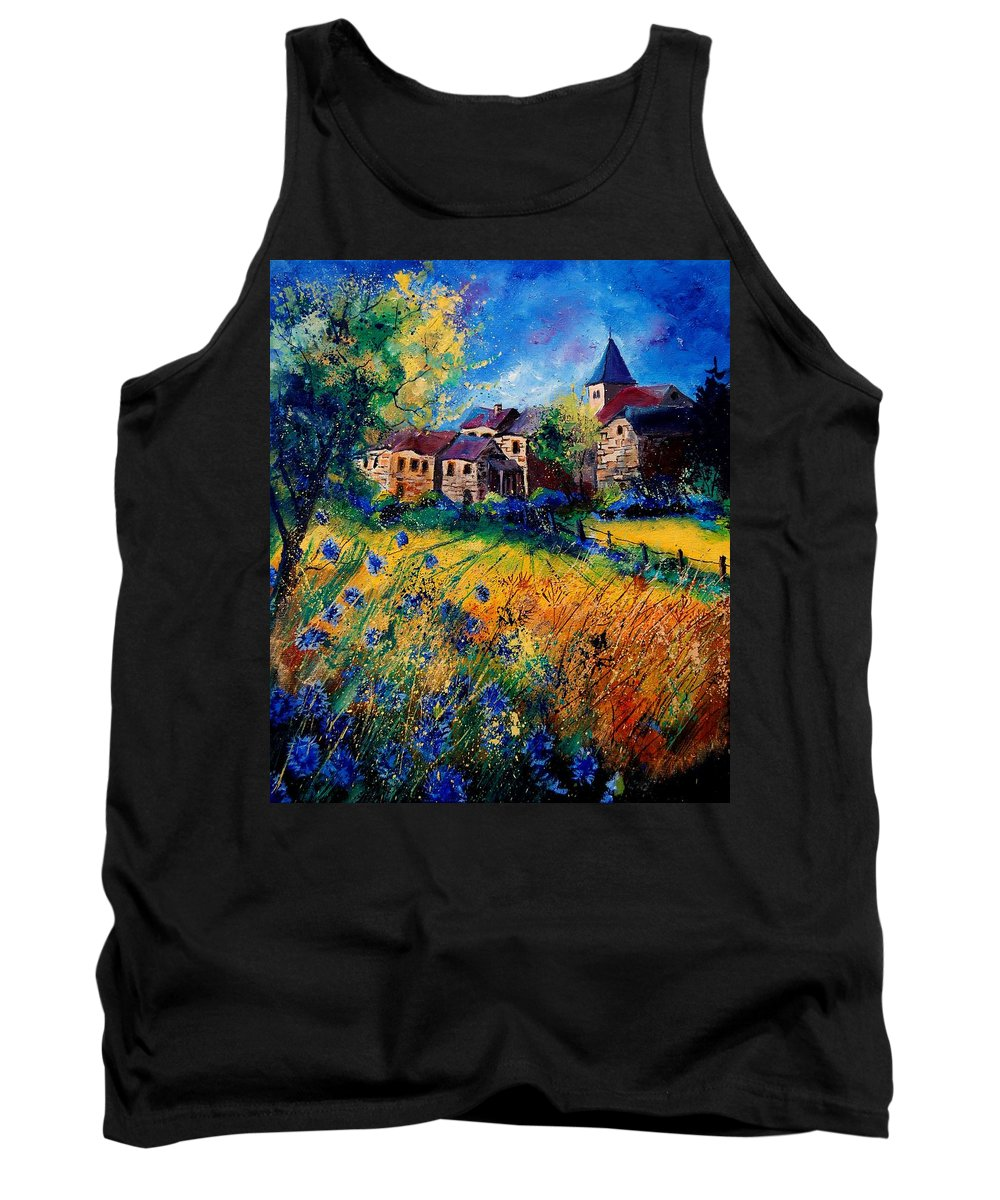 Tree Tank Top featuring the painting Awagne 67 by Pol Ledent