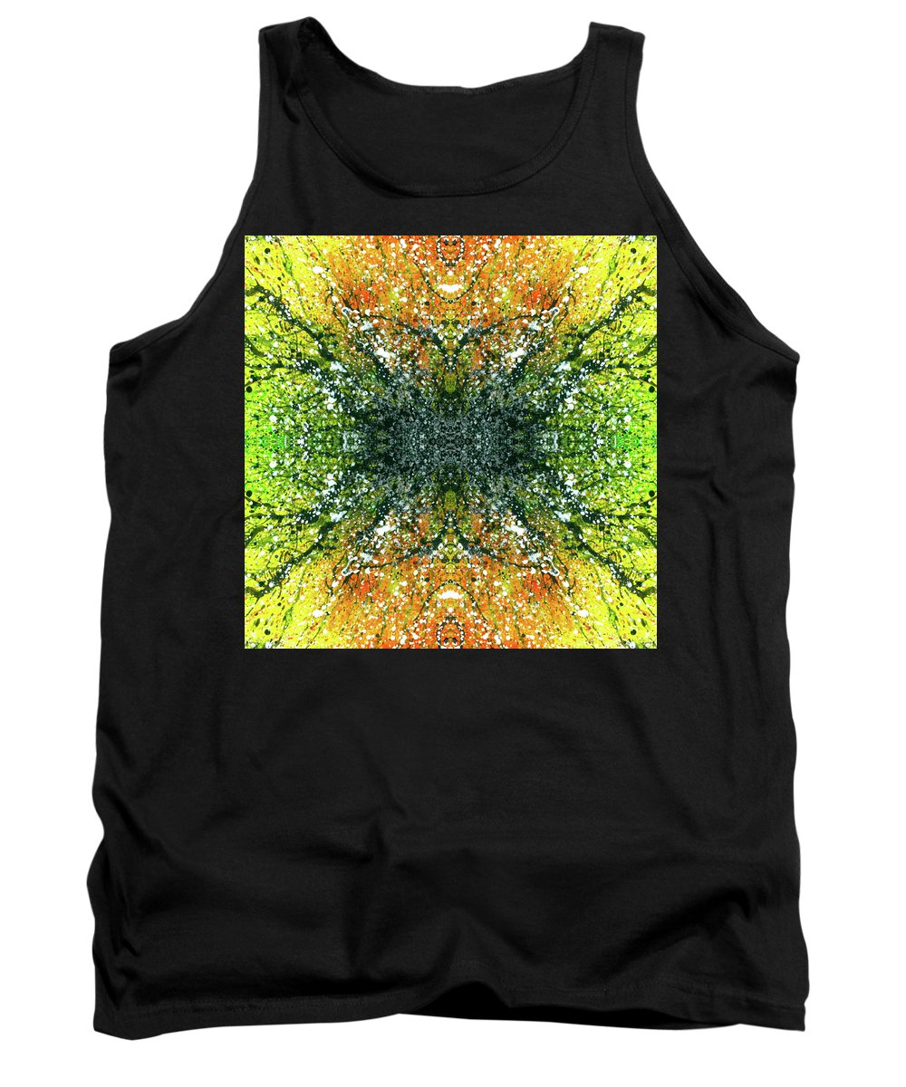 Abstract Tank Top featuring the mixed media Awakened For Higher Perspective #1426 by Rainbow Artist Orlando L