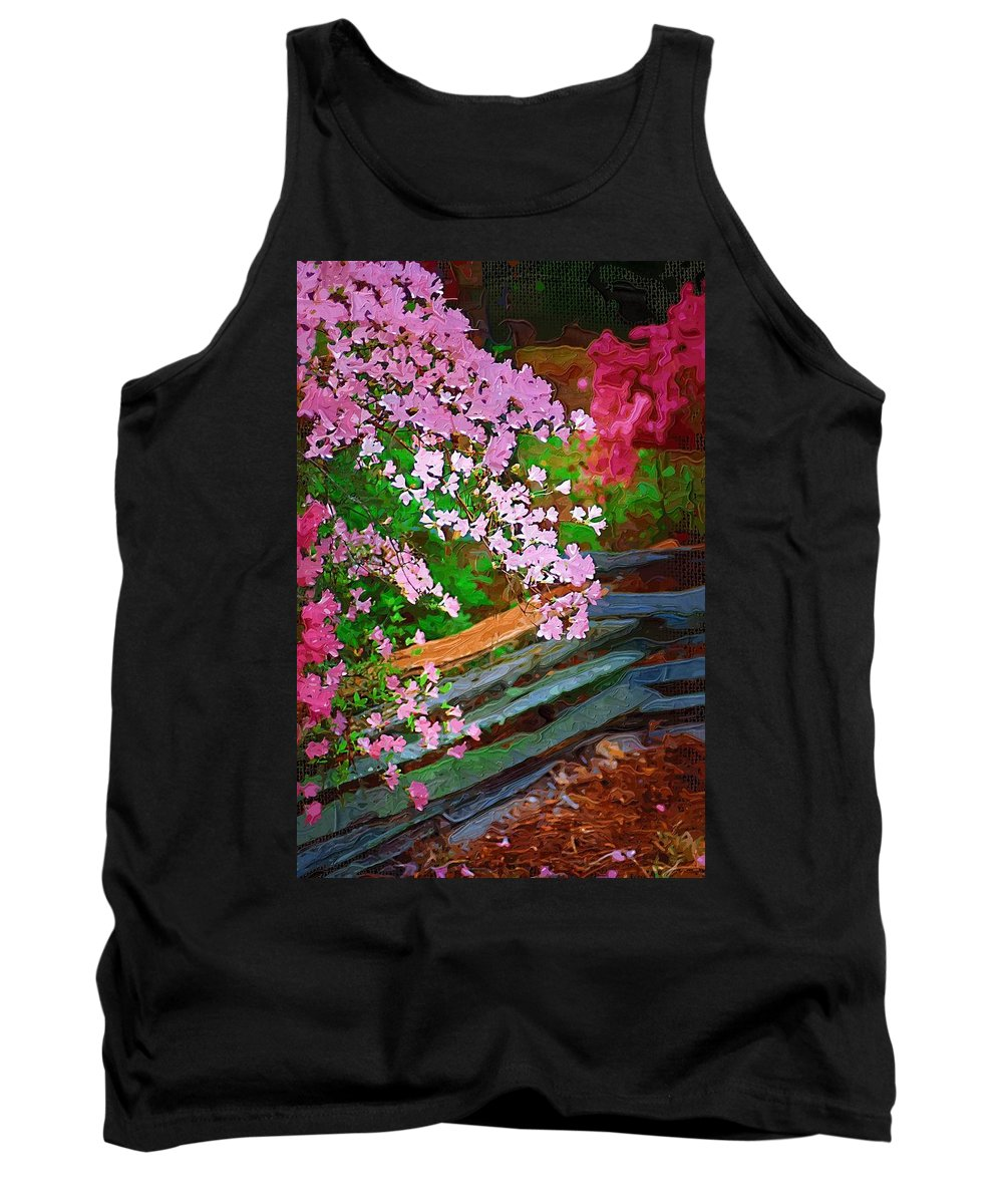 Flowers Tank Top featuring the photograph Azaleas Over The Fence by Donna Bentley