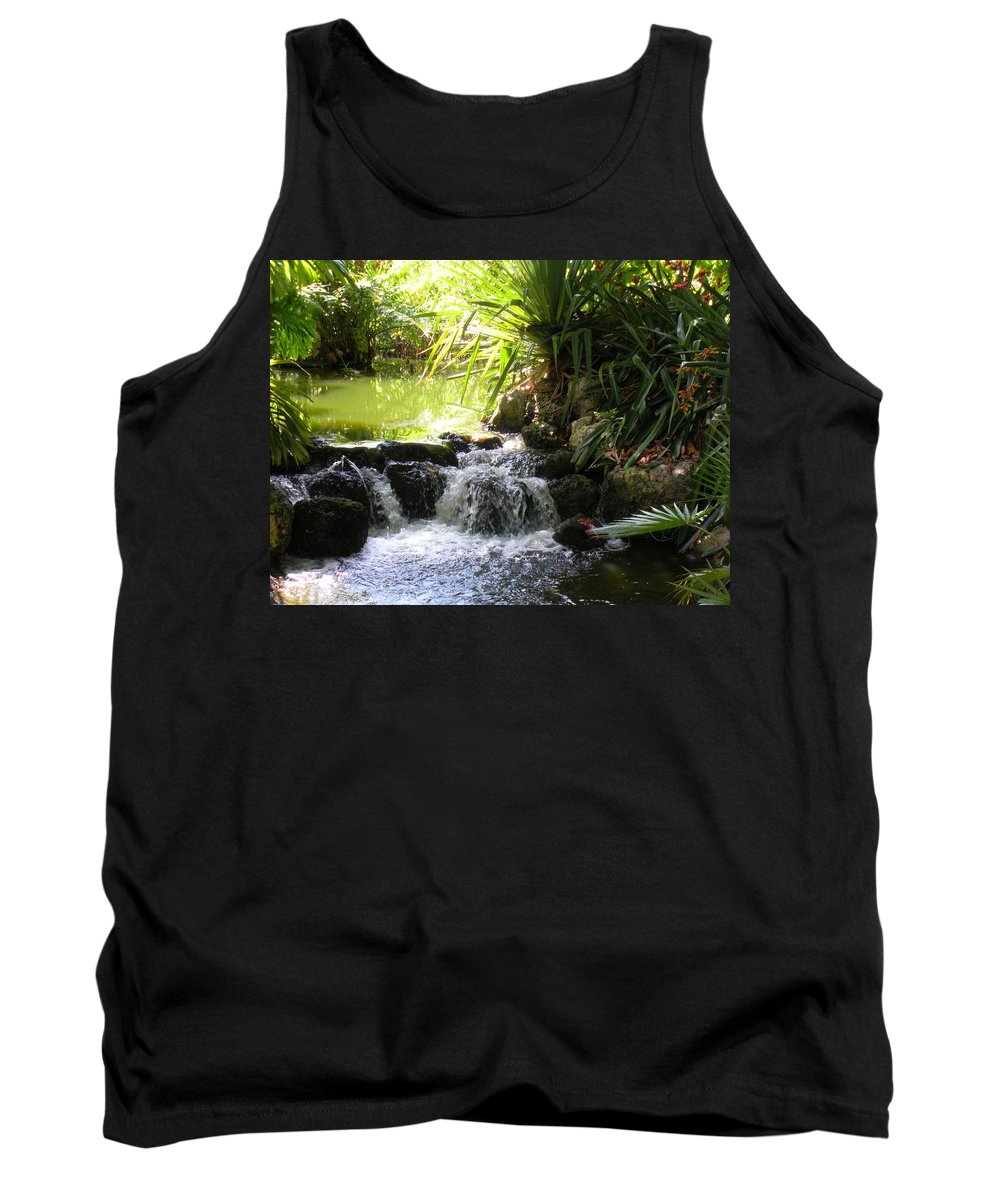 Water Tank Top featuring the photograph Babbling Brook by Maria Bonnier-Perez