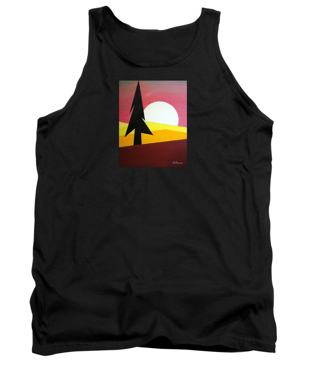 Impressionist Painting Tank Top featuring the painting Bad Moon Rising by J R Seymour