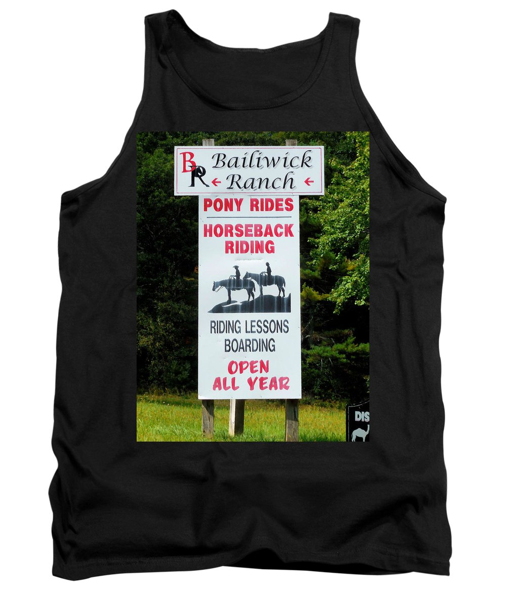 Bailiwick Ranch Tank Top featuring the painting Bailiwick Ranch 5 by Jeelan Clark