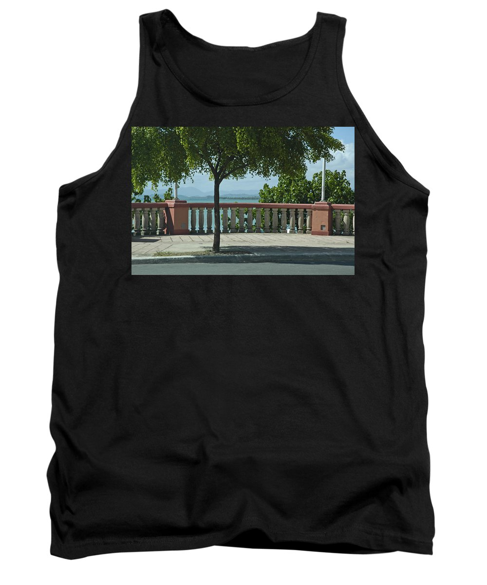 Landscape Tank Top featuring the photograph Balcony On The Beach In Naguabo Puerto Rico by Tito Santiago