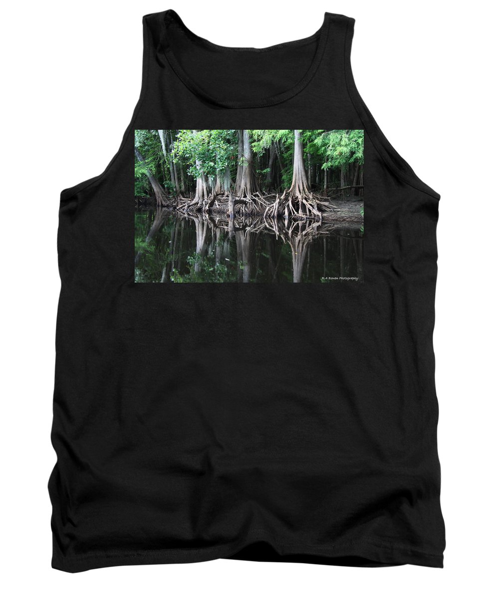 Bald Cypress Tank Top featuring the photograph Bald Cypress Trees Along The Withlacoochee River by Barbara Bowen