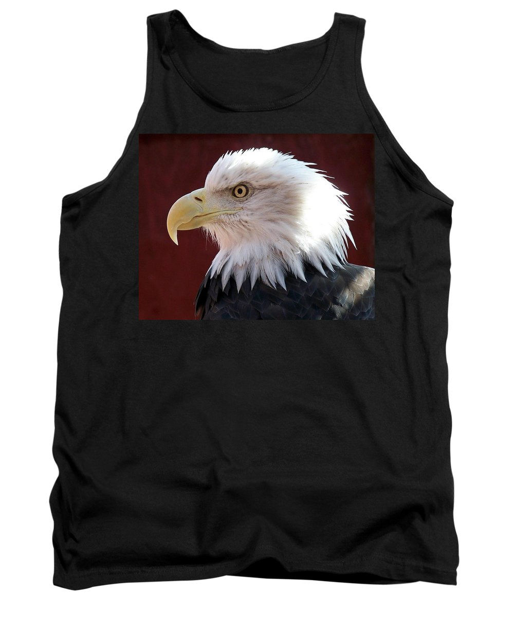 Animal Tank Top featuring the photograph Bald Eagle by Ernie Echols