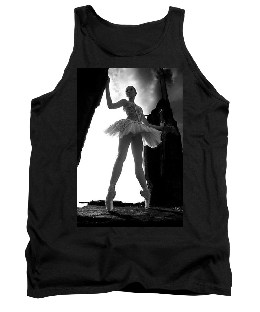 Ballet Dancer Tank Top featuring the photograph Ballet dancer1 by George Cabig