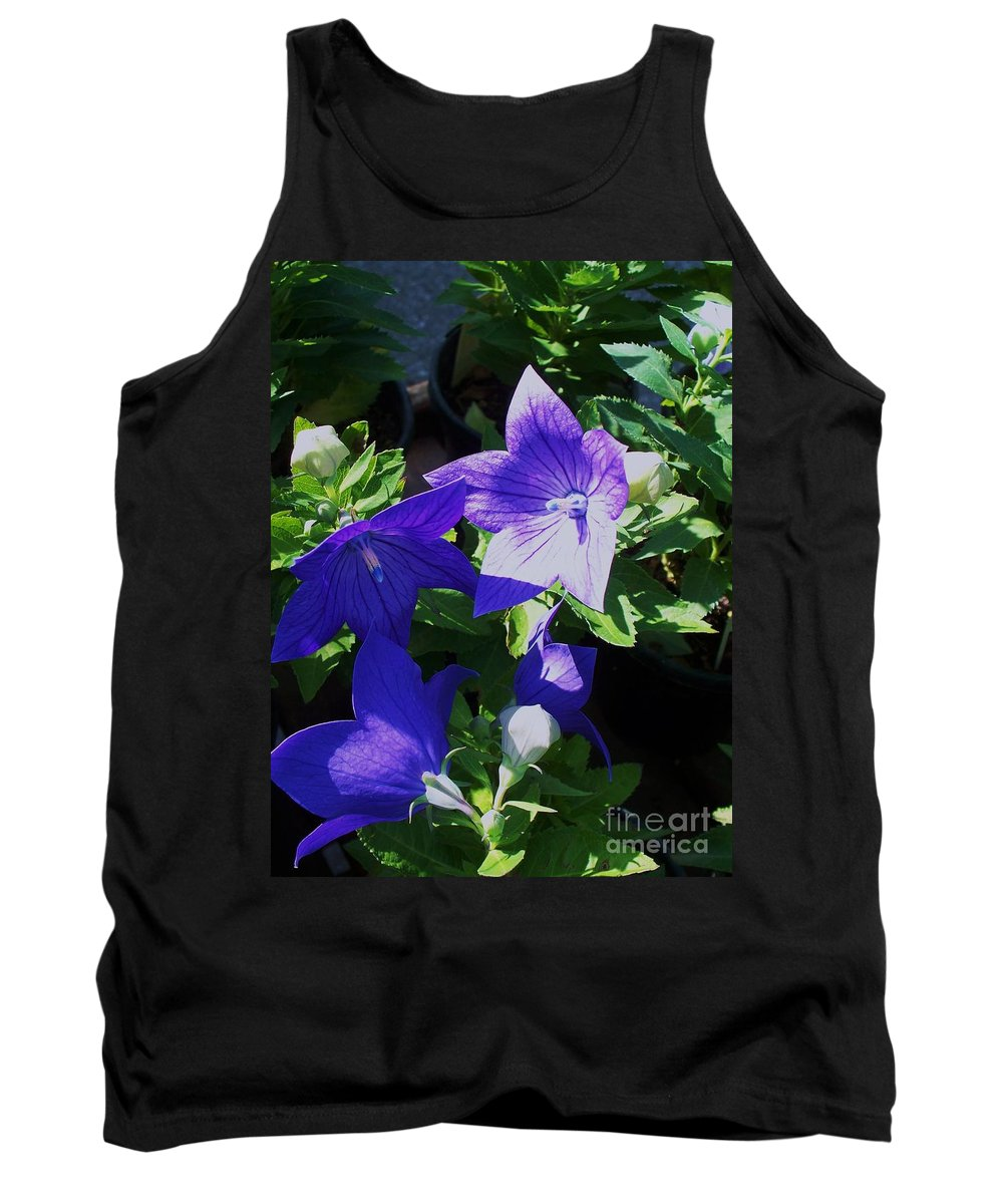 Landscapes Tank Top featuring the photograph Baloon Flower by Eric Schiabor