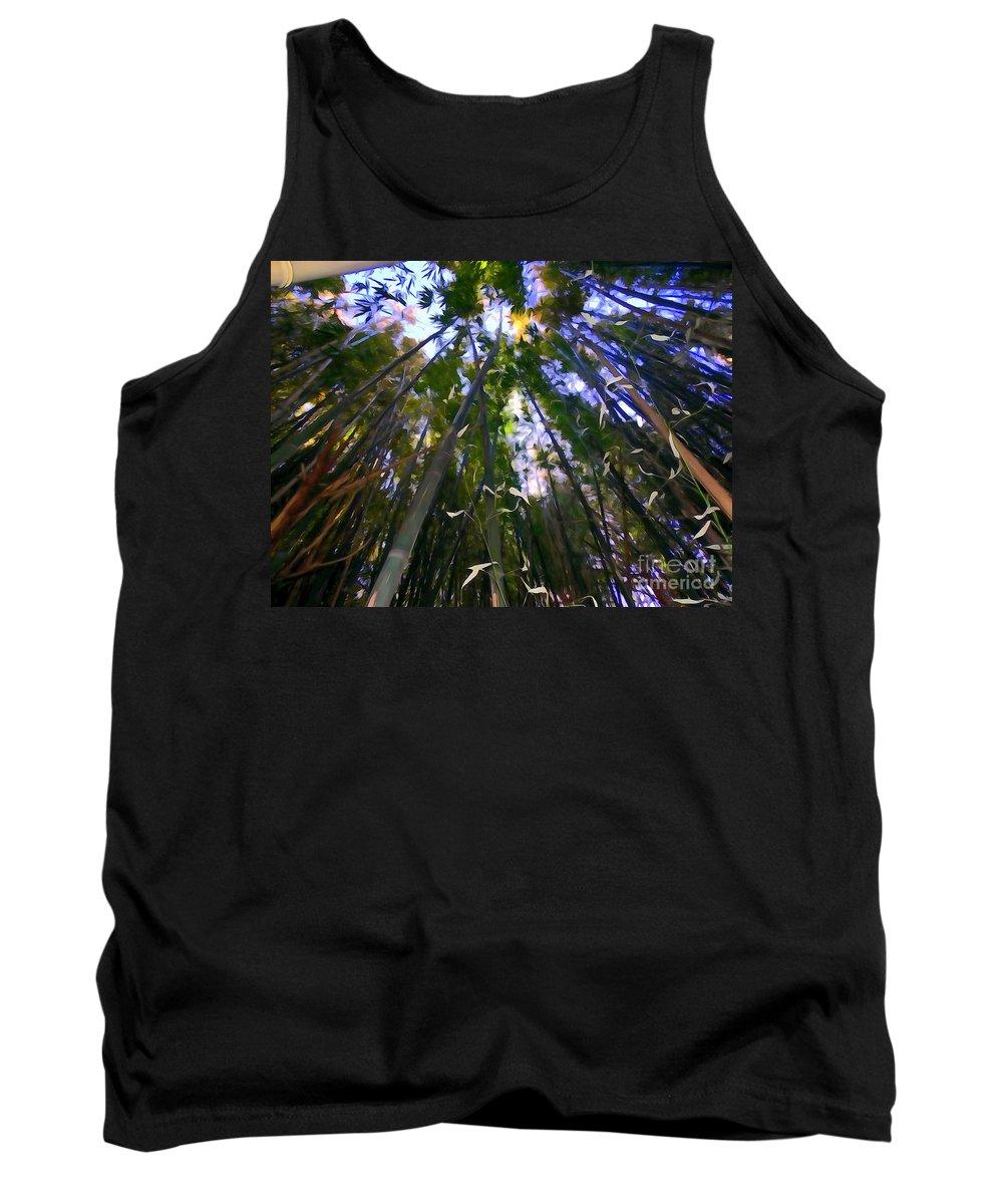 Digital Art Tank Top featuring the photograph Bamboo Dreams #4 by Ed Weidman