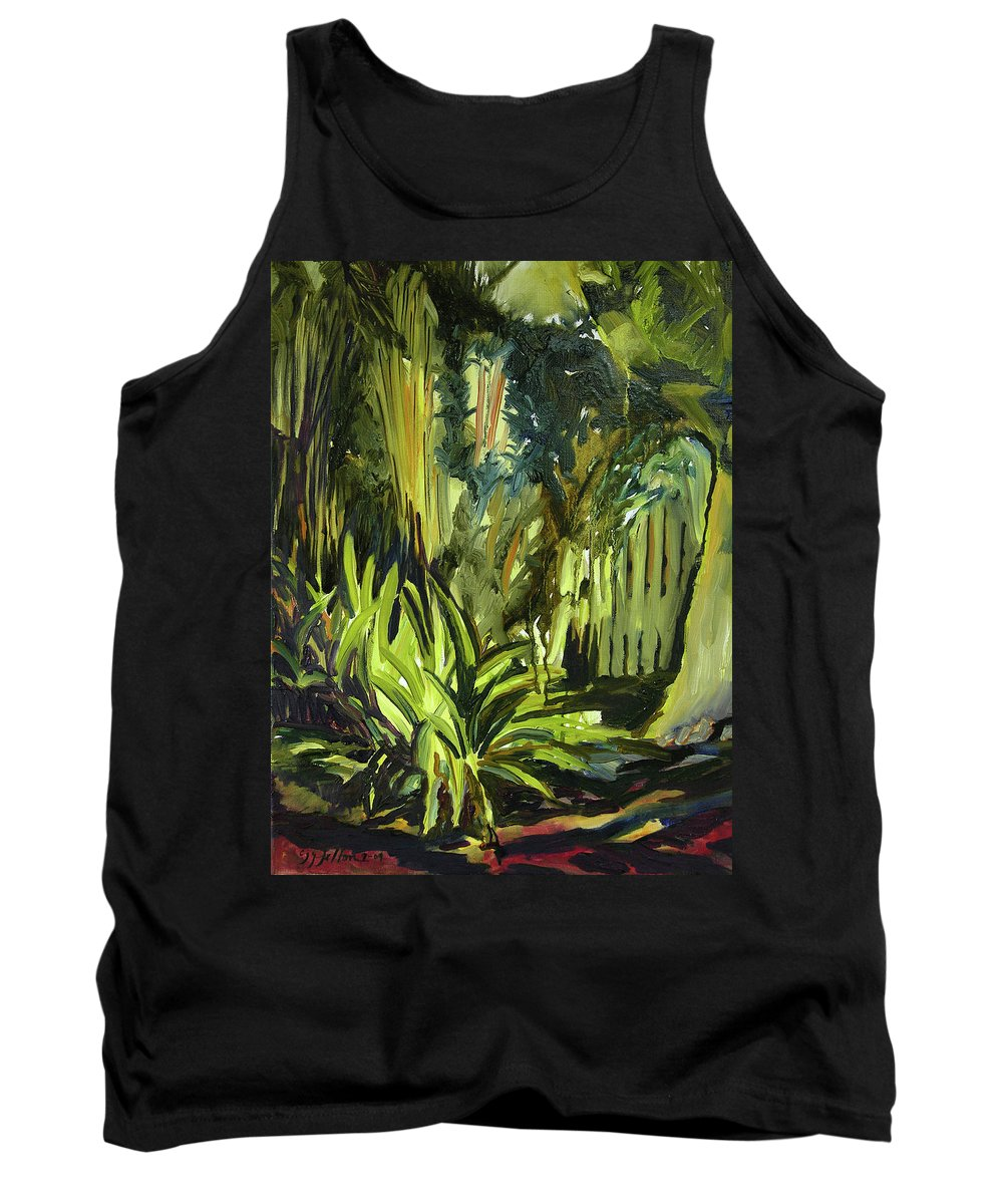 Canvas Prints Tank Top featuring the painting Bamboo Garden I by Julianne Felton