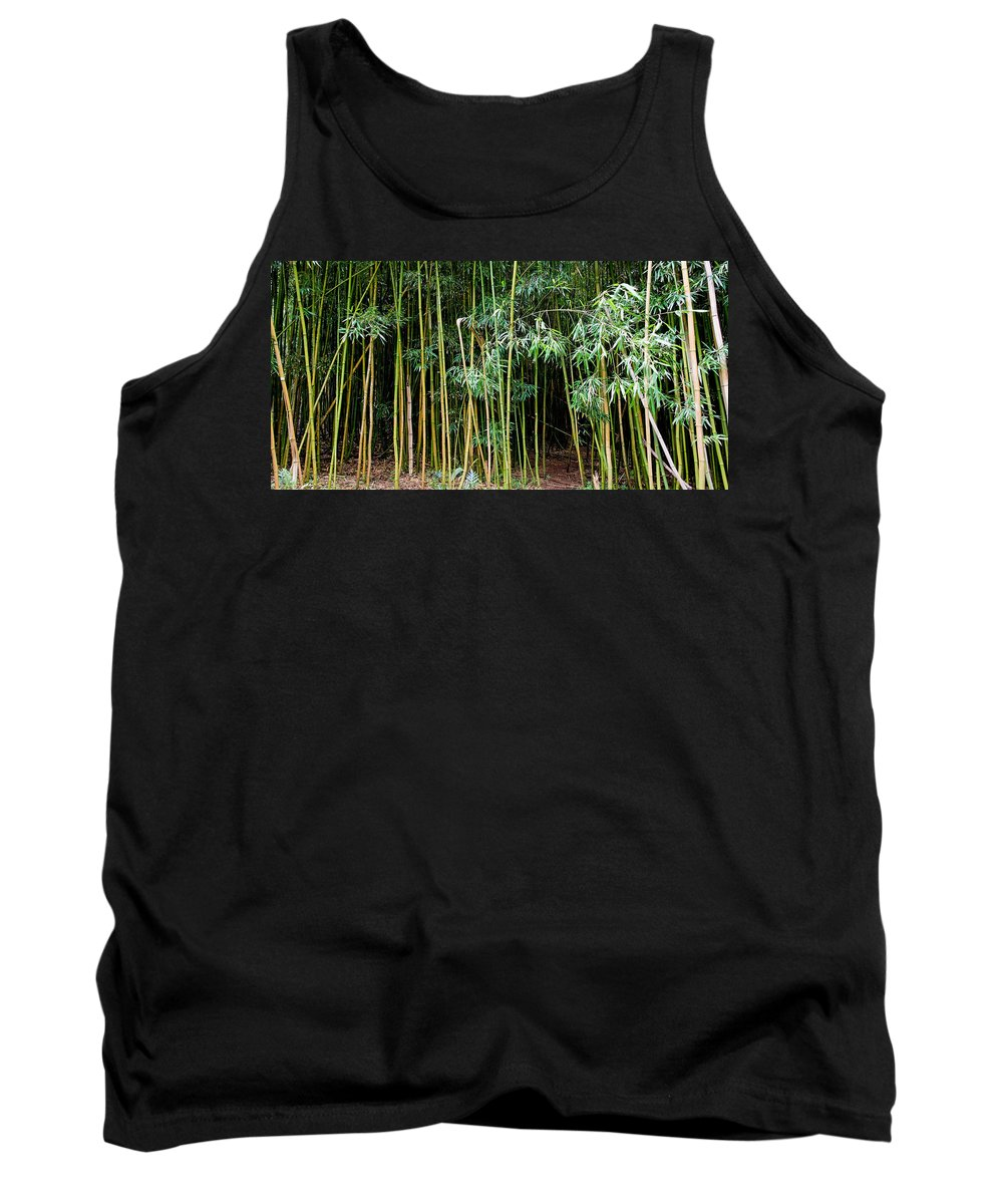 Bamboo Wind Chimes Tank Top featuring the photograph Bamboo Wind Chimes Waimoku Falls Trail Hana Maui Hawaii by Michael Bessler