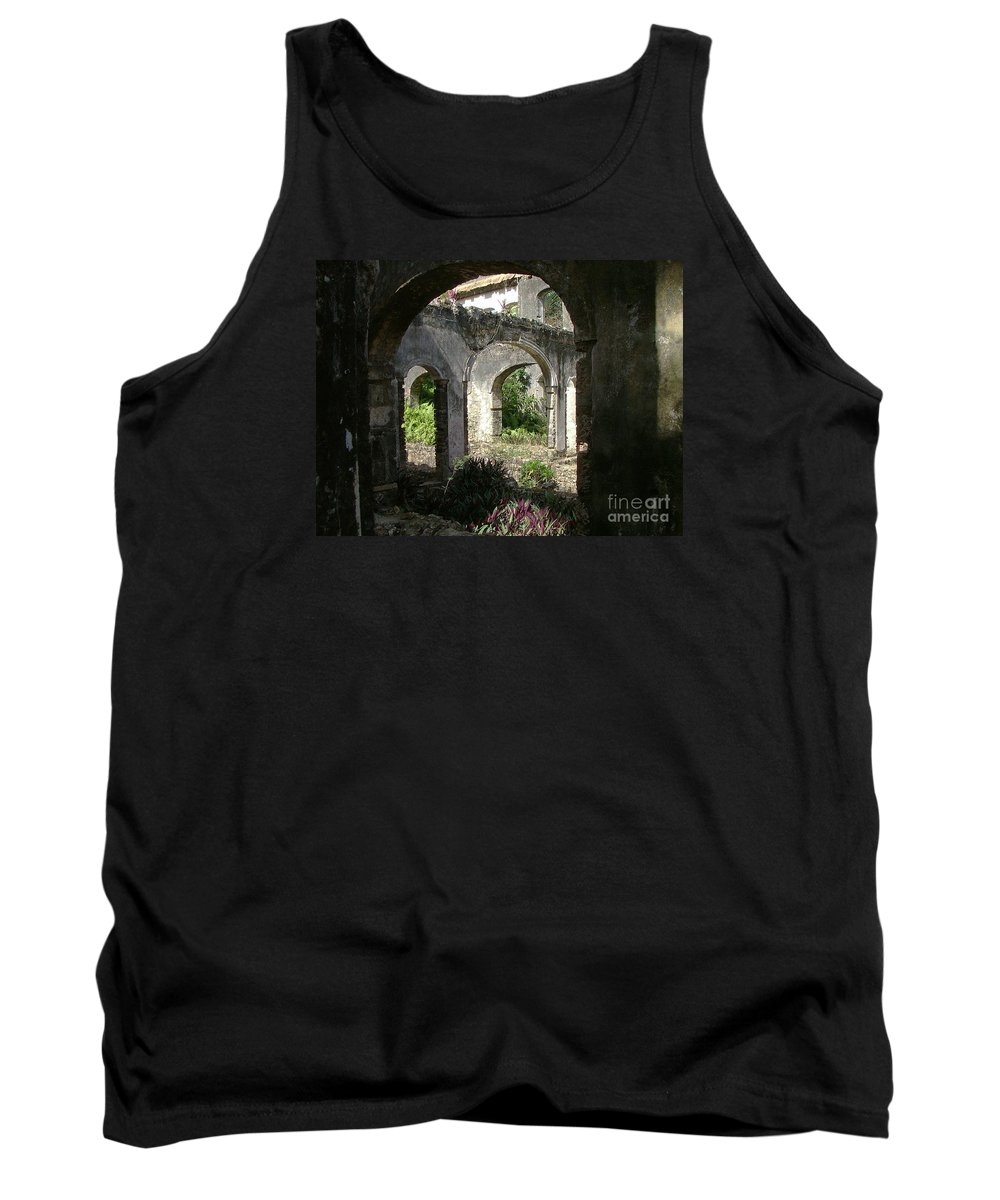 Barbados Tank Top featuring the photograph Barbados Ruins by Neil Zimmerman