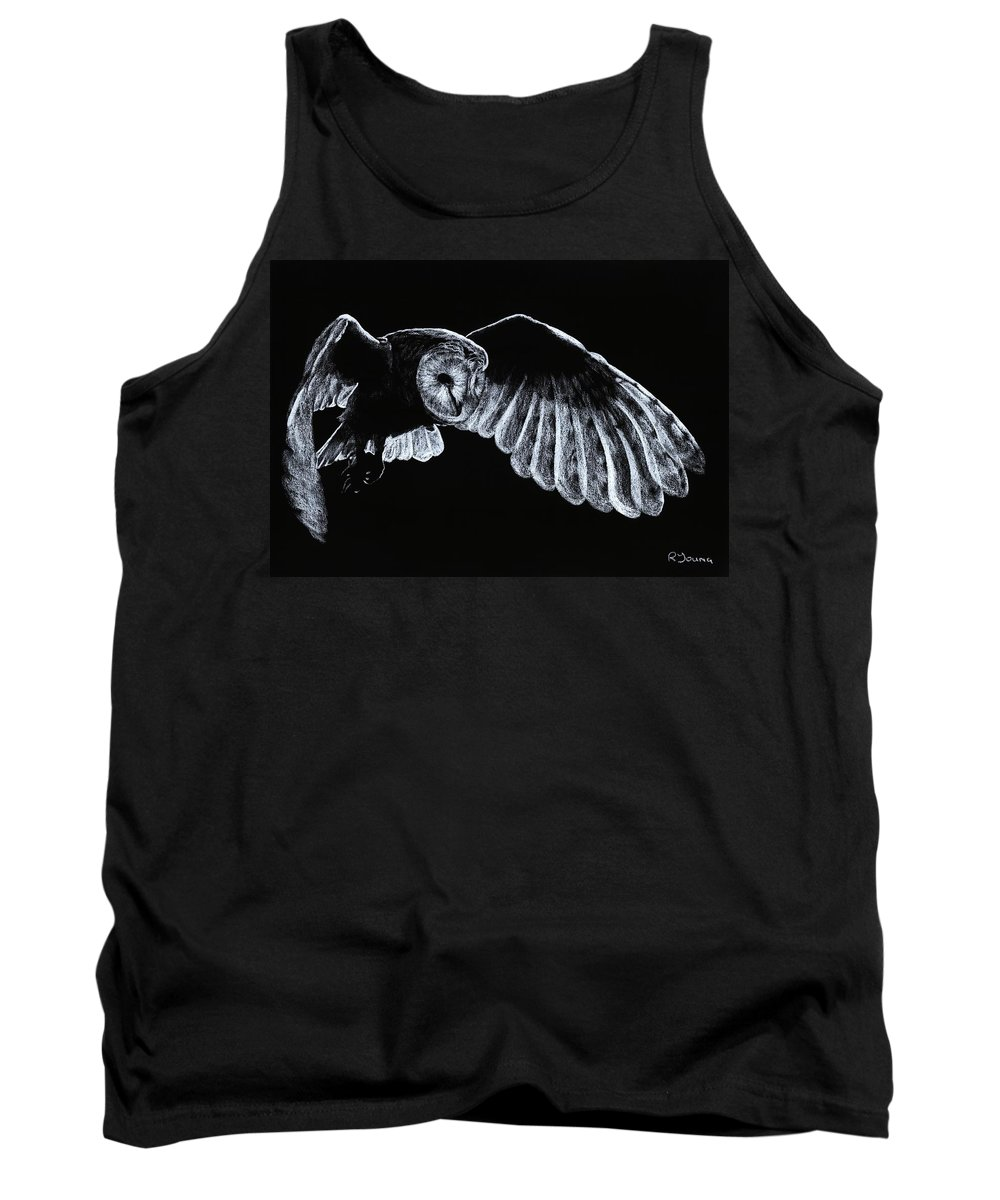 Owl Tank Top featuring the pastel Barn Owl by Richard Young