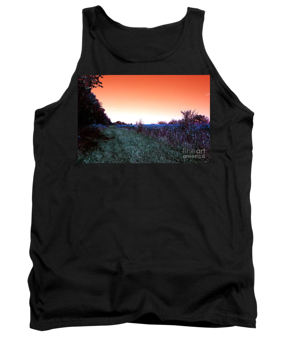 Air Tank Top featuring the photograph Barred Owl Trail by Alan Look