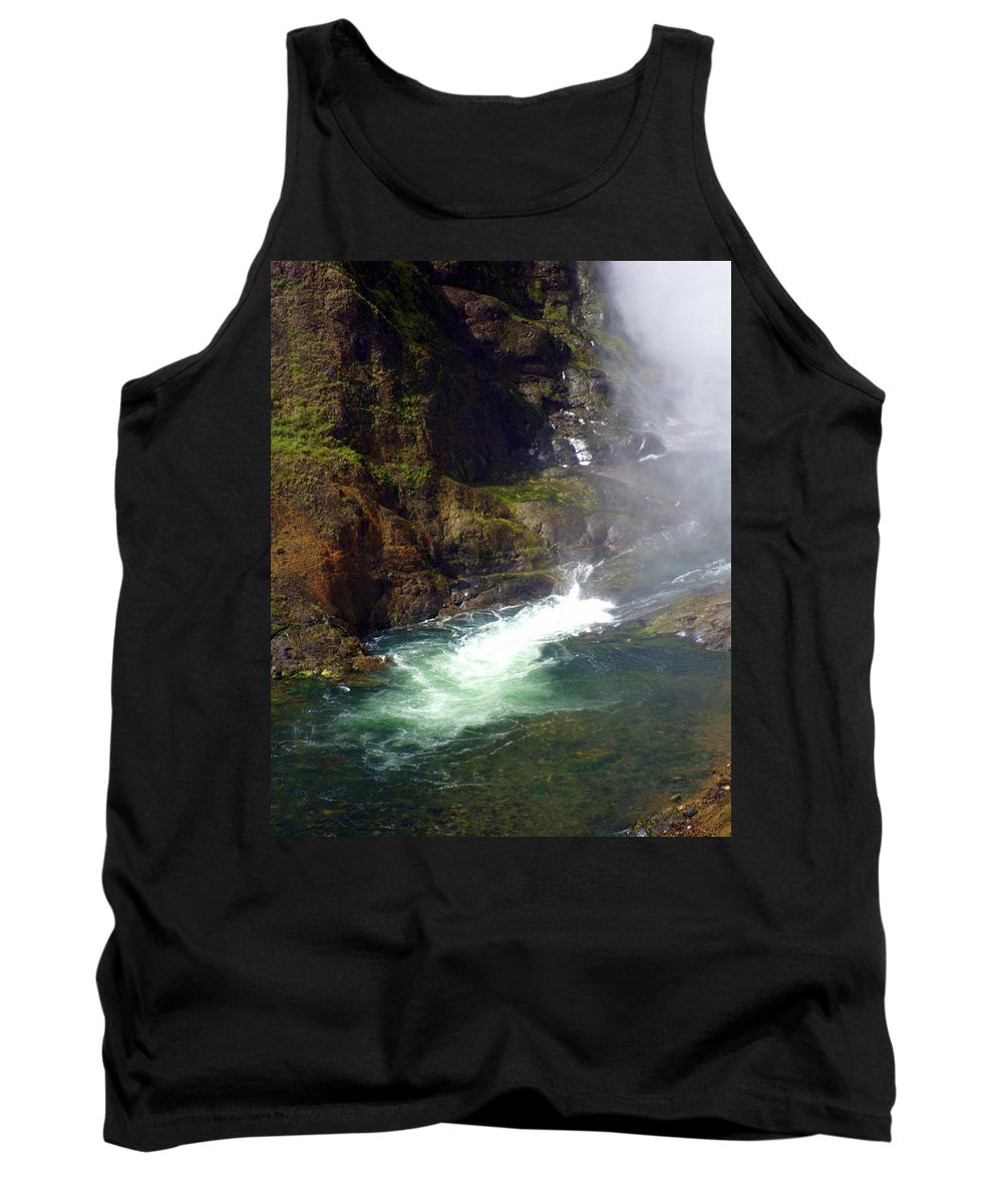 Yellowstone National Park Tank Top featuring the photograph Base Of The Falls 1 by Marty Koch