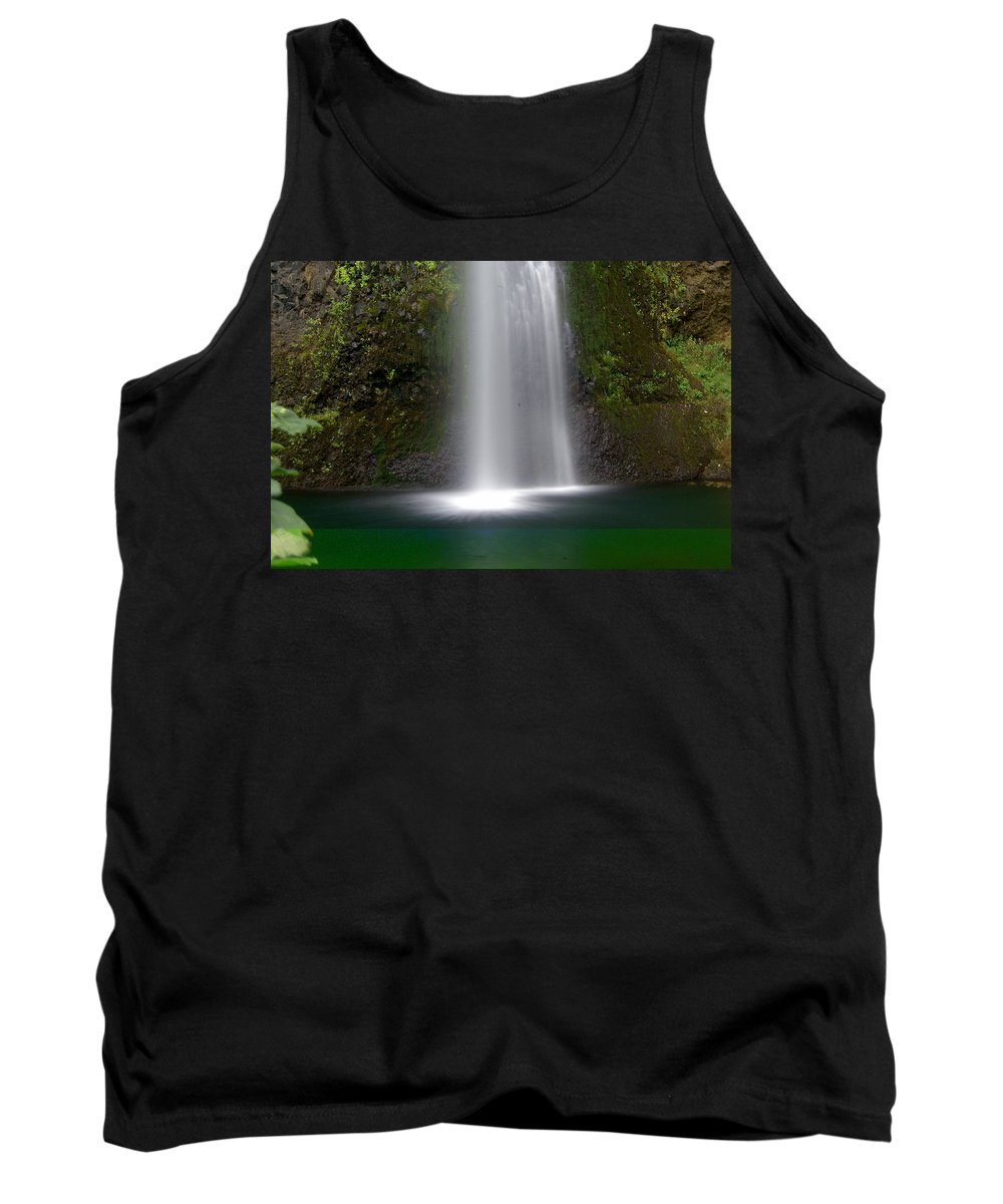Waterfals Tank Top featuring the photograph Base Of The Falls by Marty Koch
