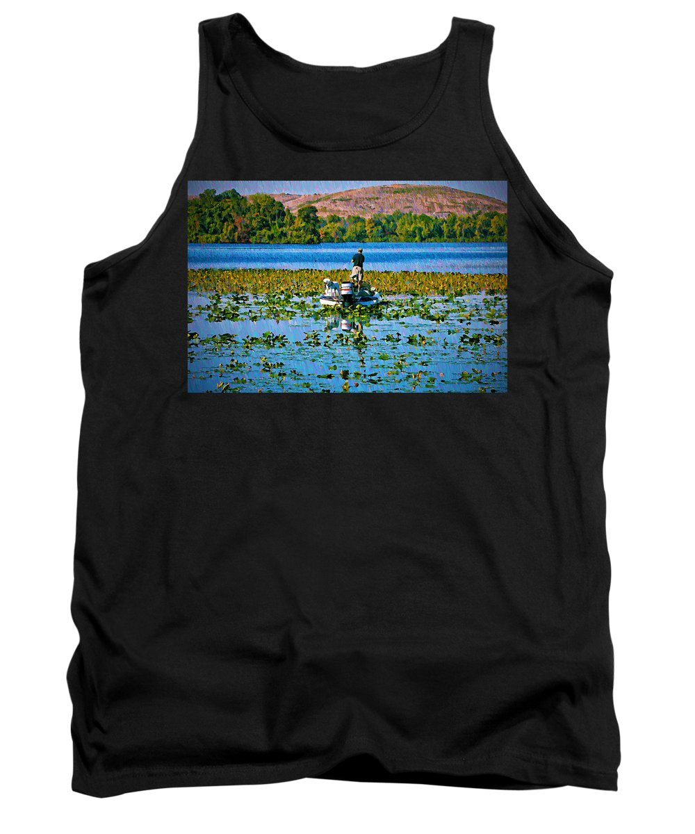 Sport Tank Top featuring the photograph Bass Fishing by Bill Cannon