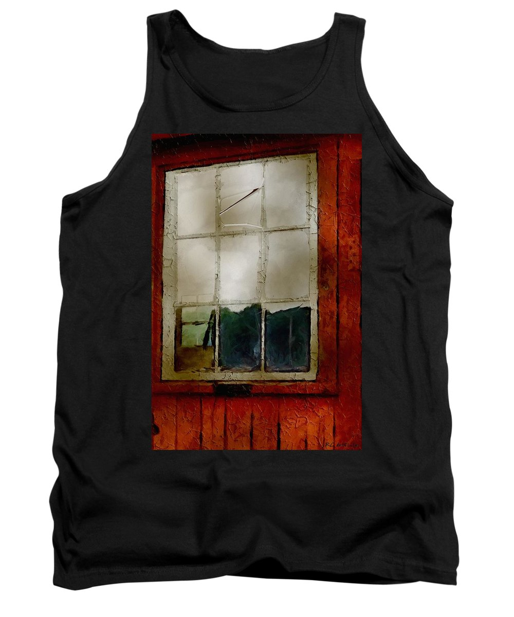 Americana Tank Top featuring the painting Battered Barn by RC DeWinter