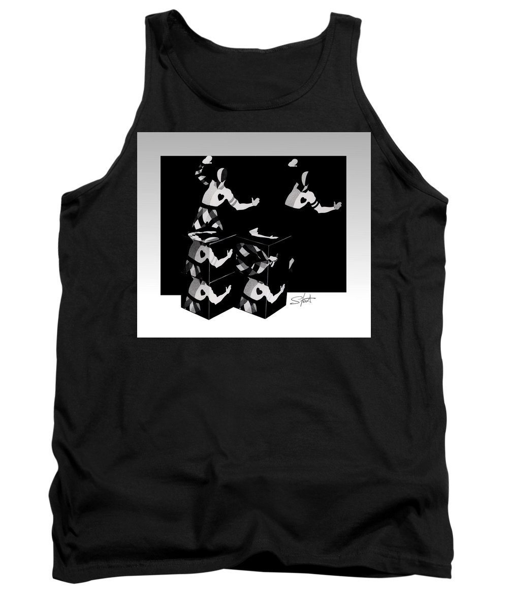 Dance Tank Top featuring the photograph Bauhause Ballet by Charles Stuart