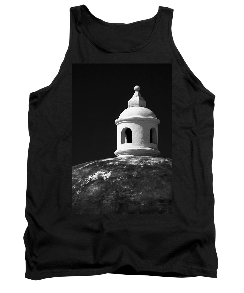 Architecture Tank Top featuring the photograph Beach House Cupola by Guy Shultz
