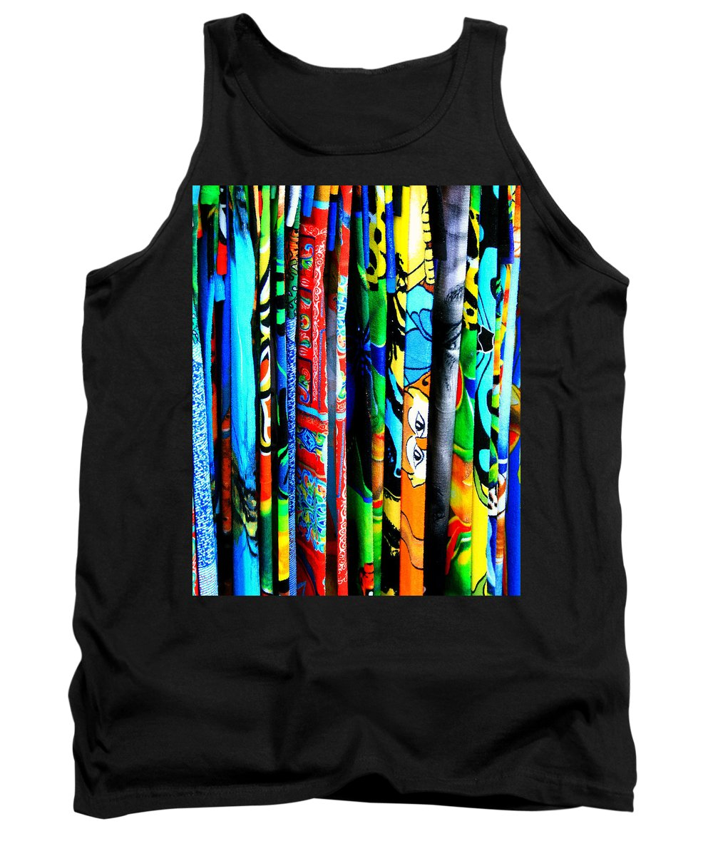 Beach Tank Top featuring the photograph Beach Towels by Perry Webster