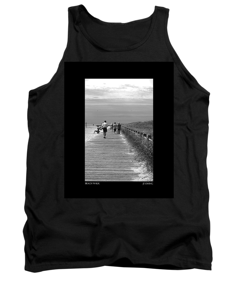 Boardwalk Tank Top featuring the photograph Beach Walk by J Todd