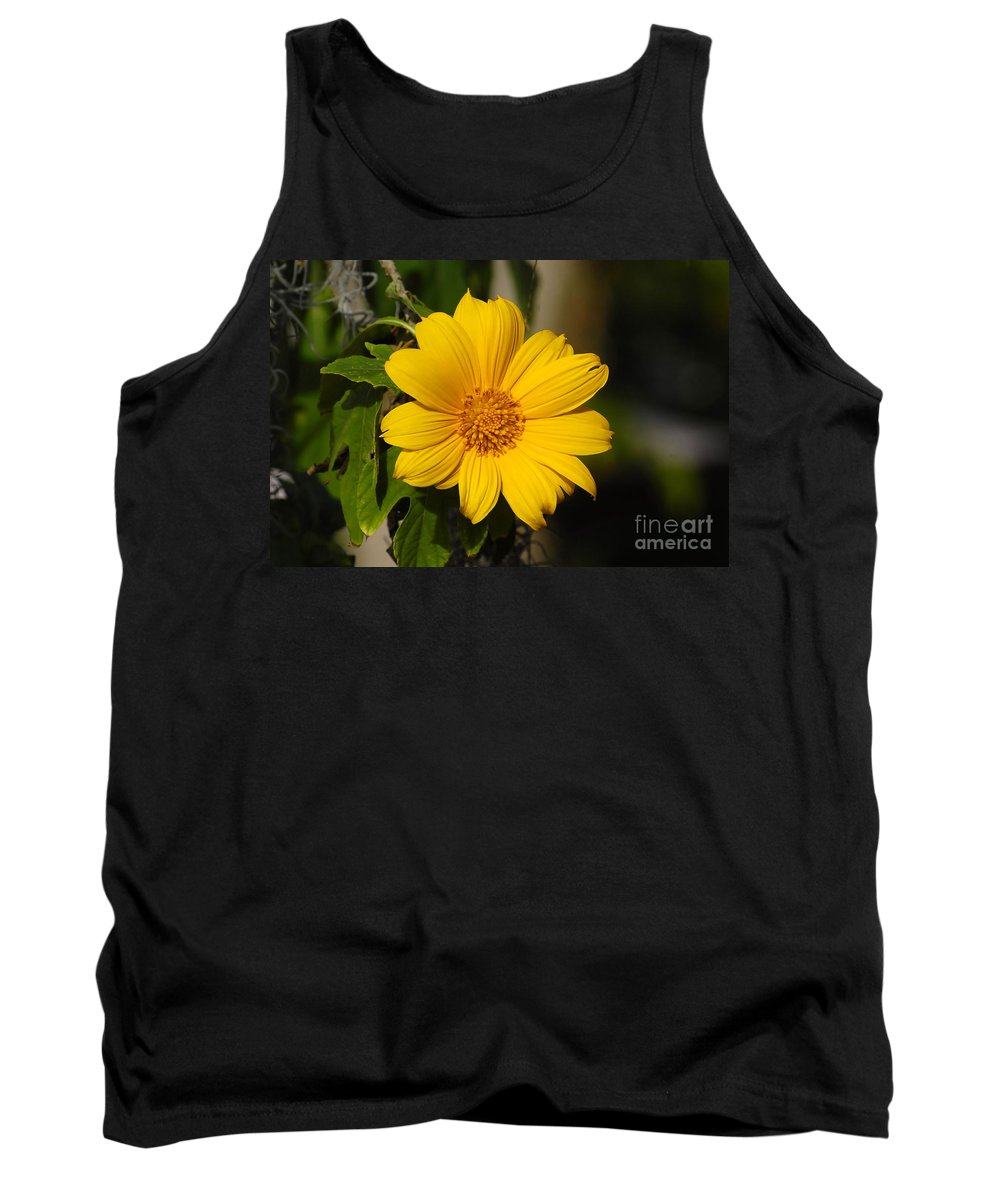 Yellow Tank Top featuring the photograph Beautiful In Yellow by David Lee Thompson