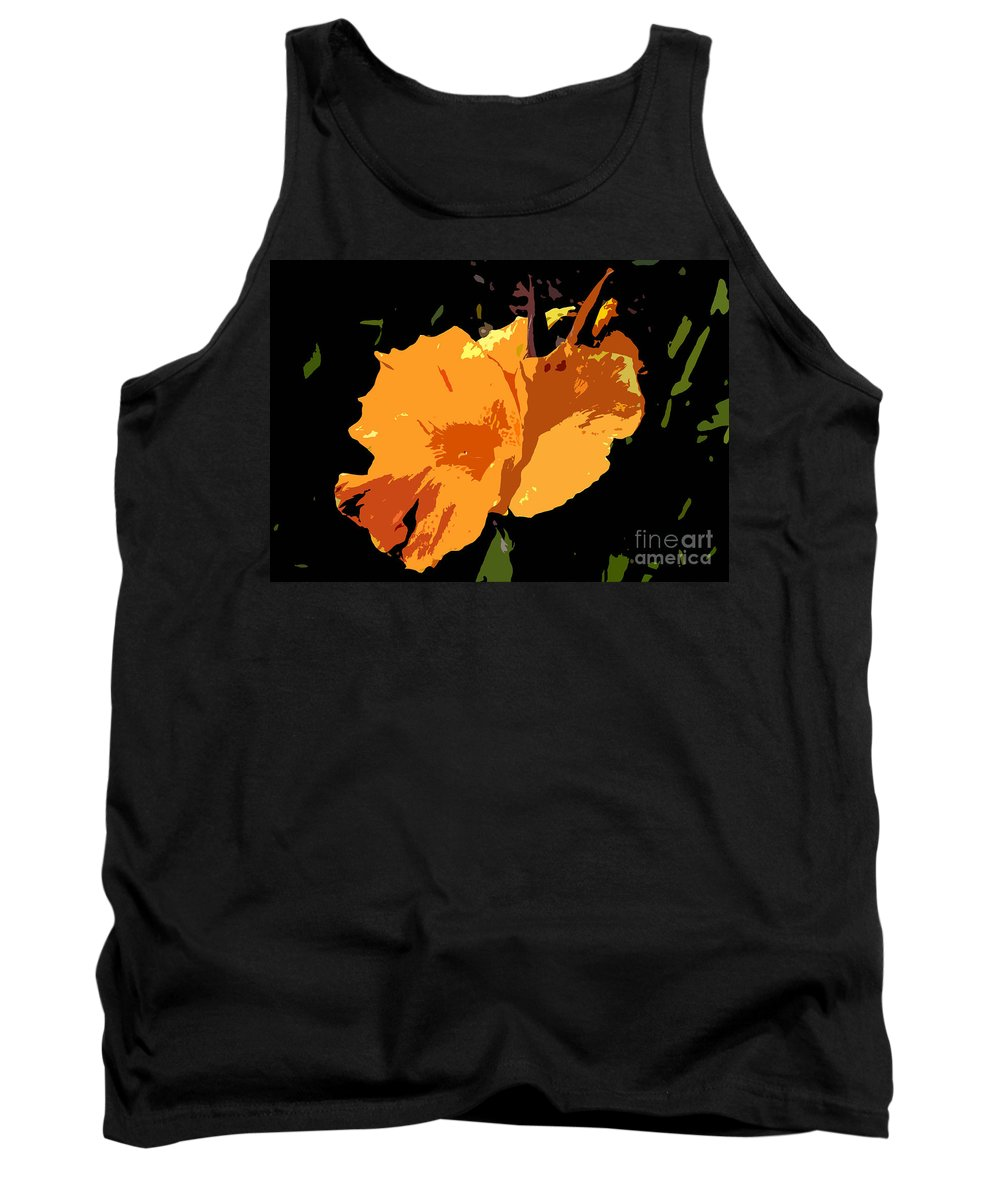 Flower Tank Top featuring the photograph Beautiful Orange Work Number 19 by David Lee Thompson