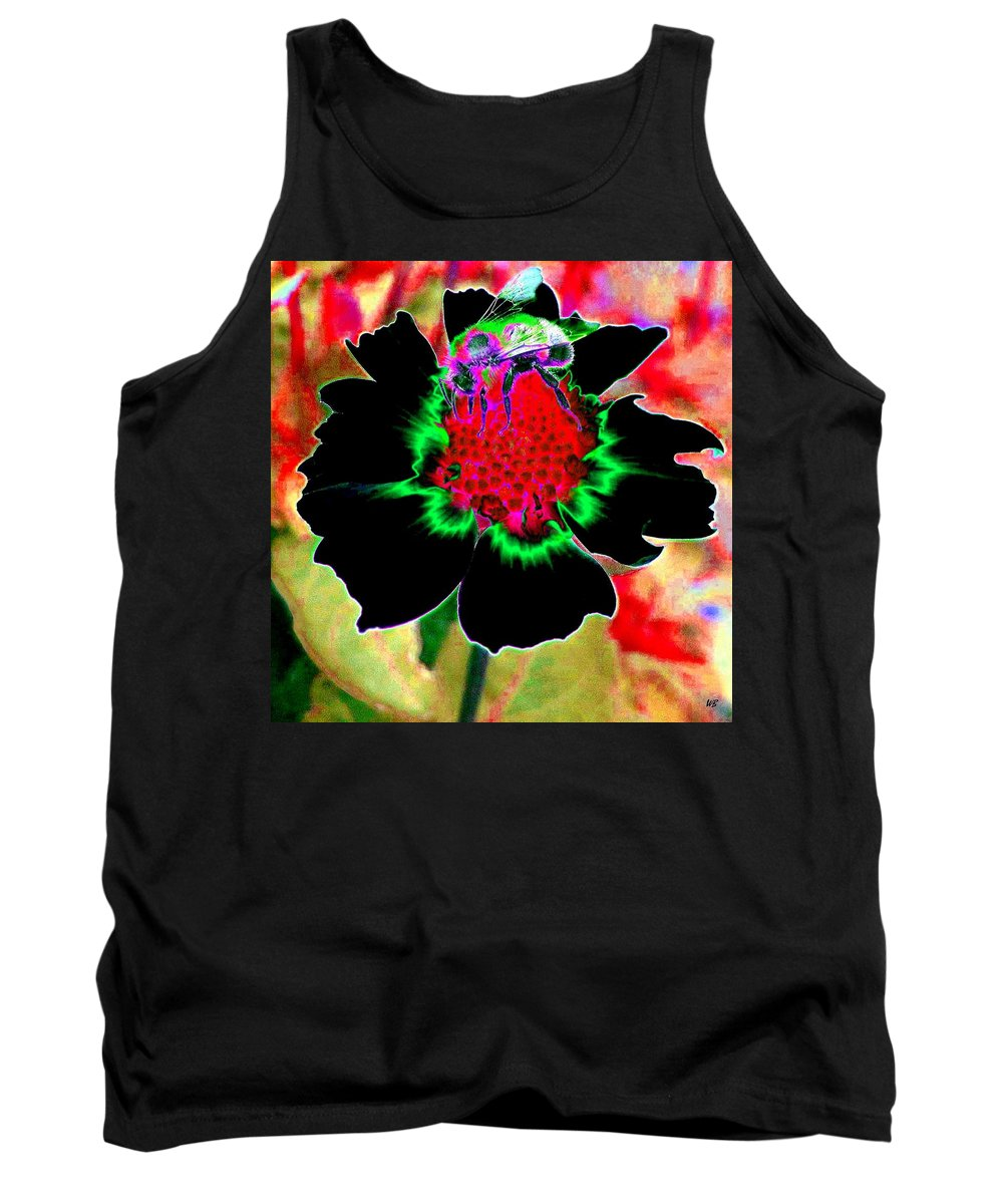 Bee Tank Top featuring the digital art Beedazzling by Will Borden