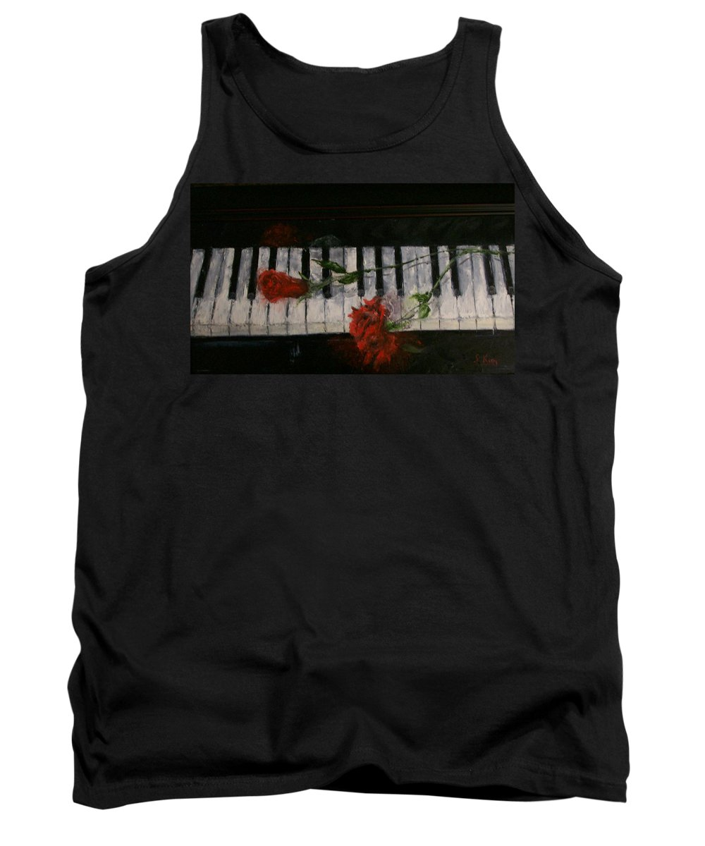 Still Life Tank Top featuring the painting Before The Concert by Stephen King
