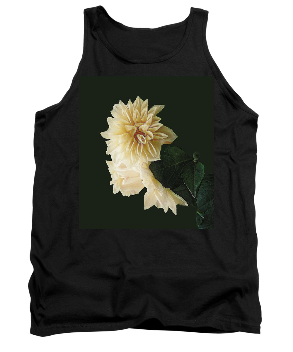 Beige Tank Top featuring the digital art Beige Bold And Beautiful by RC DeWinter