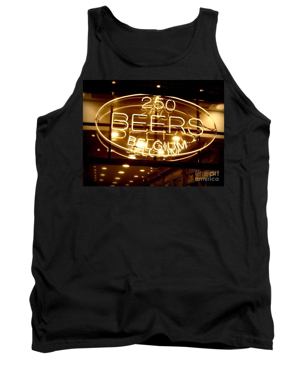 Home Bar Tank Top featuring the photograph Belgian Beer Sign by Carol Groenen