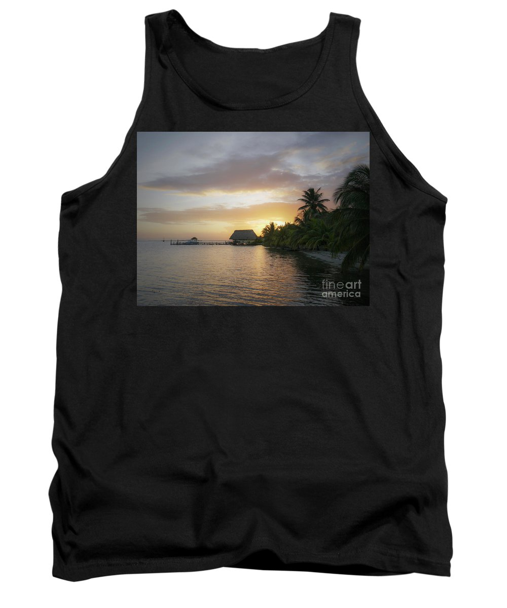 Sea Tank Top featuring the photograph Belizean Magic by Dorothy Hilde